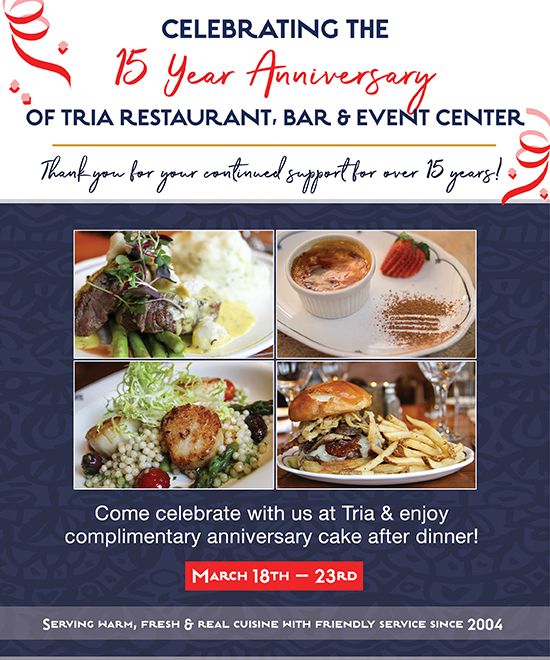 Celebrate our 15 year anniversary with us March 18-23!