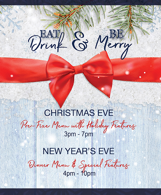 Celebrate Christmas Eve and New Year's Eve at Tria